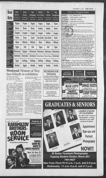 Daily Trojan, Vol. 132, No. 55, November 14, 1997