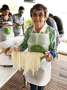 Pat with her Pasta