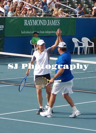 Chris Evert Tennis Celebrities 2009