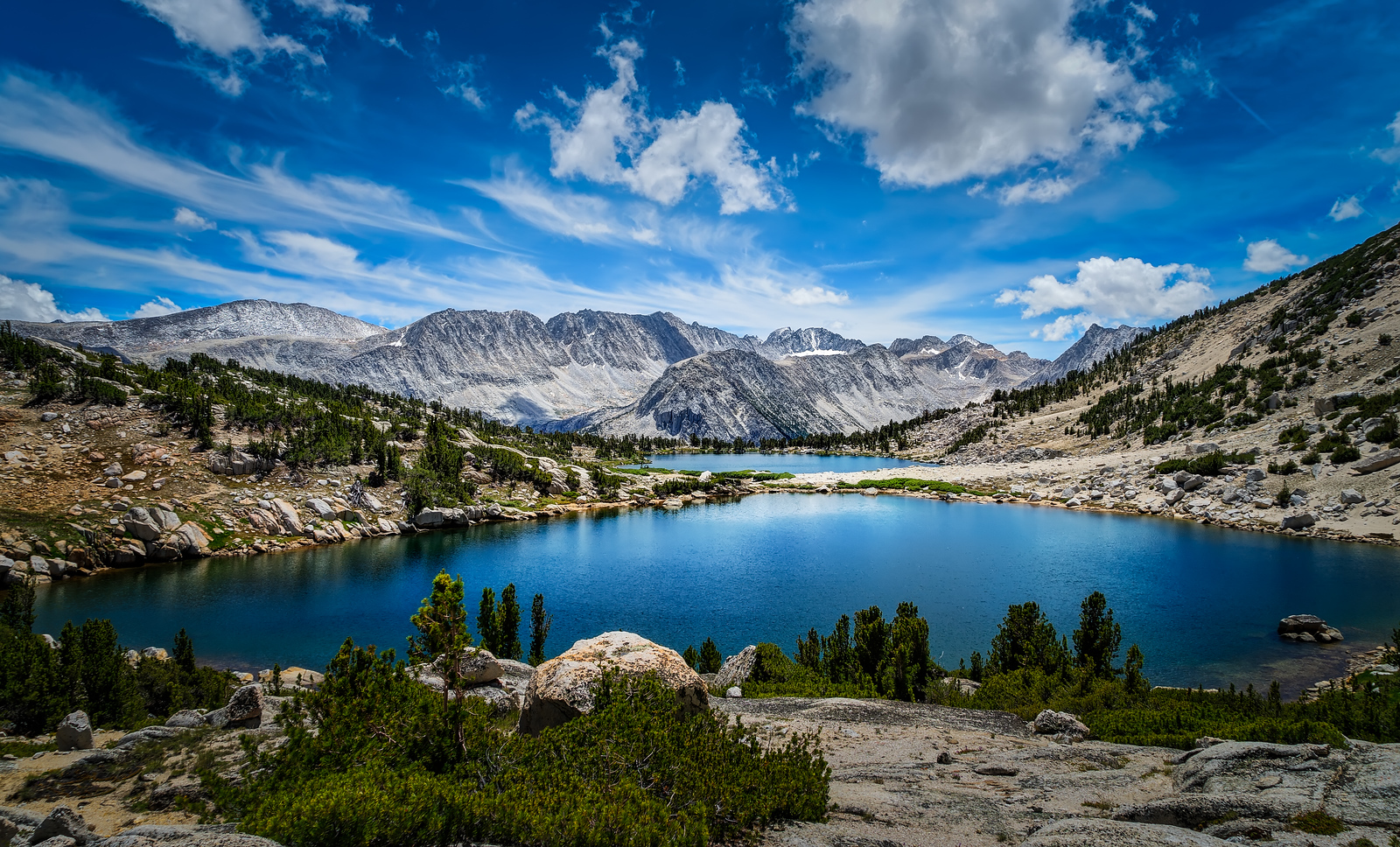 Lakes 1 and 2 in Pioneer Basin