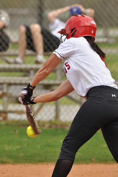 Savannah Burns up to bat against UNC Greensboro on March 22, 2012.