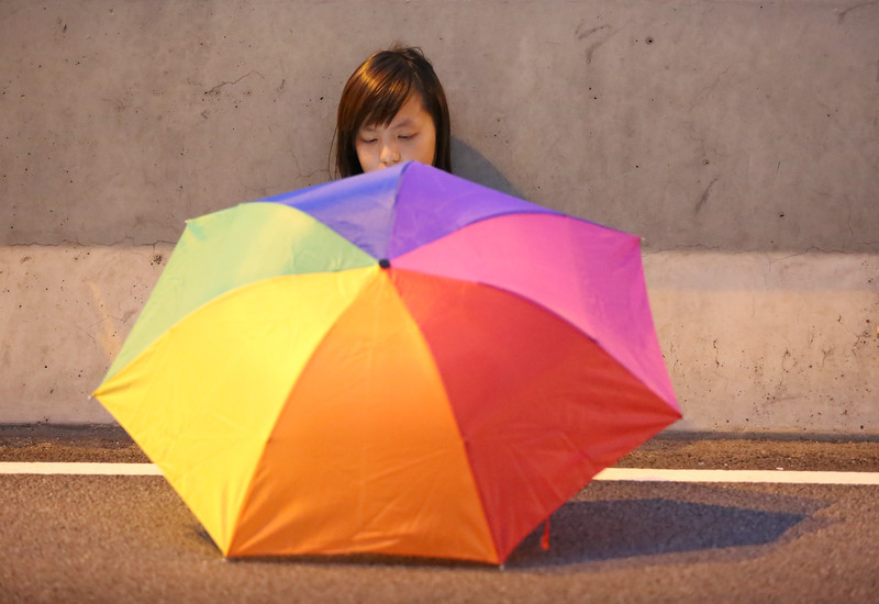 Protester at #UmbrellaRevolution in Admiralty @oclphk @hkfs1958 #OccupyHongKong