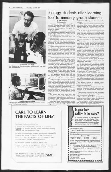 Daily Trojan, Vol. 61, No. 98, April 02, 1970