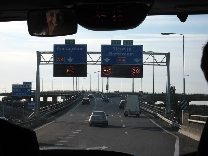Driving on the E19 from The Hague to Rotterdam