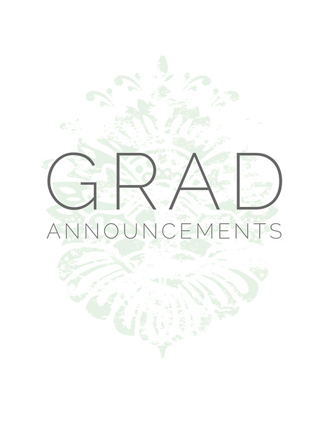 Grad Announcements
