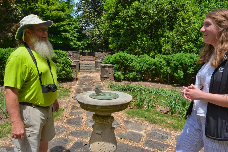 John Keatley and a Berry College docent at Oak Hill