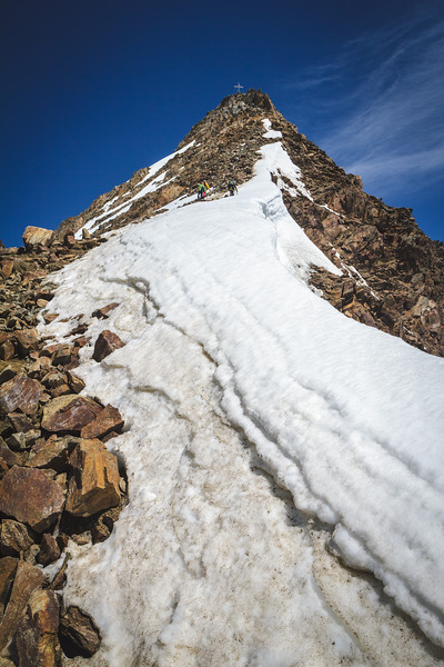 Climb on summit