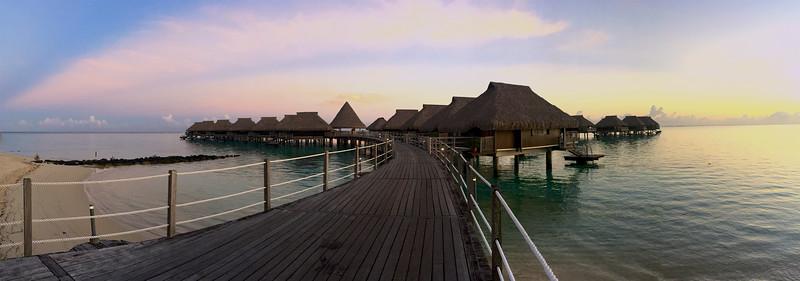 Over water bungalows at Hilton Mo'orea