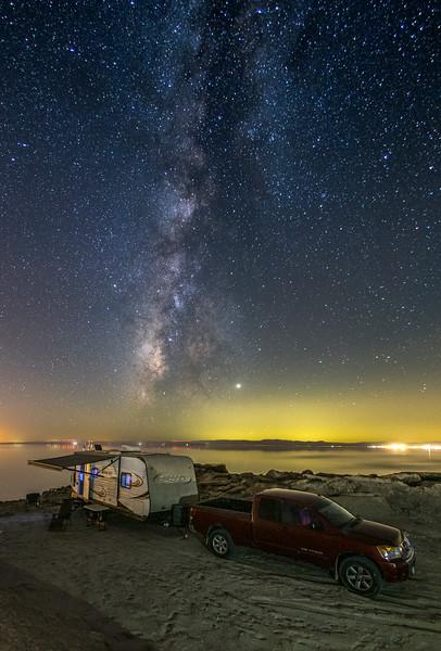 Boondocking Under The Milky Way At The Salton Sea