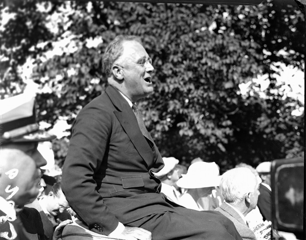 . President Franklin D. Roosevelt is pictured at Campobello, date unknown. (AP Photo)