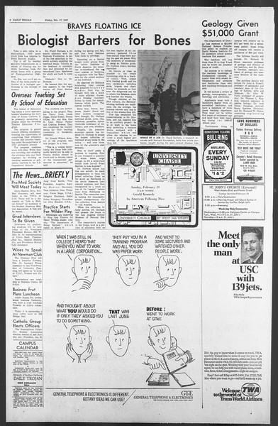 Daily Trojan, Vol. 58, No. 73, February 17, 1967