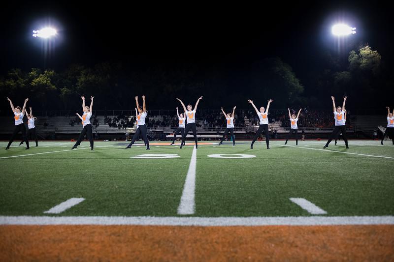 Danceline at WBL Football -V-Mounds View