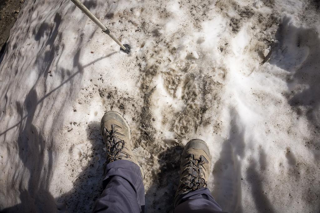 Pisando nieve en verano