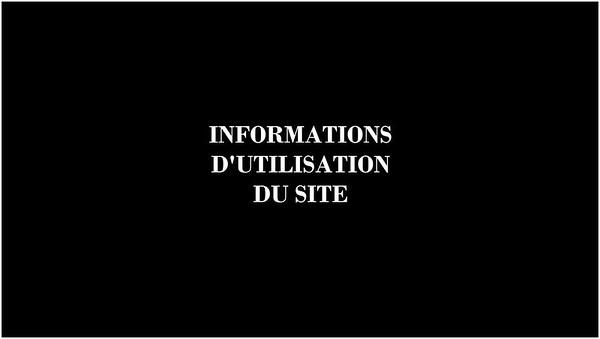 Informations d'utilisation du site