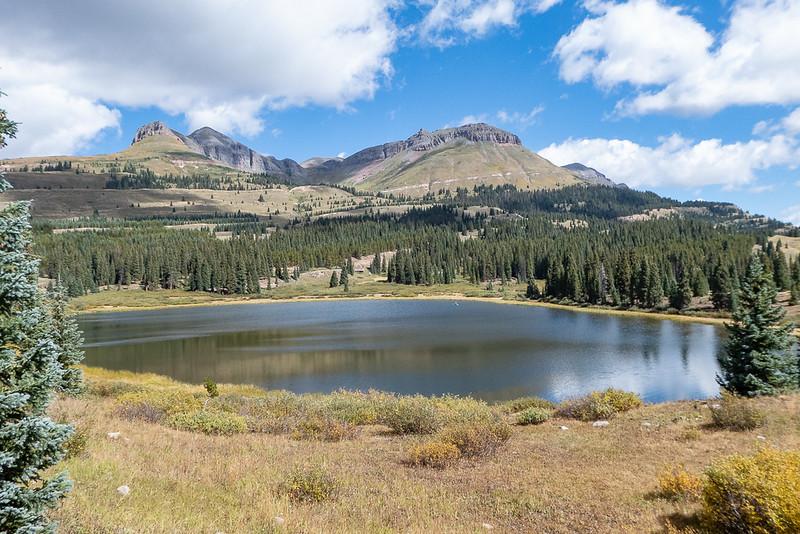Little Molas Lake and Mountains