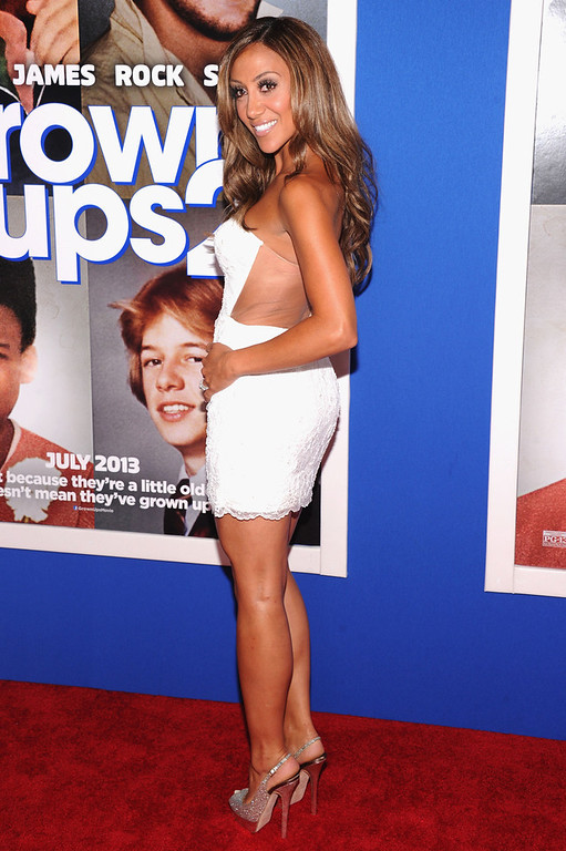 """. TV personality Melissa Gorga attends the \""""Grown Ups 2\"""" New York Premiere at AMC Lincoln Square Theater on July 10, 2013 in New York City.  (Photo by Jamie McCarthy/Getty Images)"""