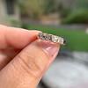 1.28ctw Asscher Cut Diamond 5-Stone Band, 18kt Rose Gold 5