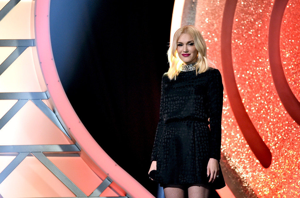 . LOS ANGELES, CA - MAY 01:  Singer Gwen Stefani speaks onstage during the 2014 iHeartRadio Music Awards held at The Shrine Auditorium on May 1, 2014 in Los Angeles, California. iHeartRadio Music Awards are being broadcast live on NBC.  (Photo by Kevin Winter/Getty Images for Clear Channel)