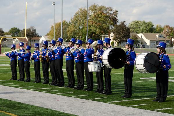 2011-10-15 Dayton Coed Band - Football vs Belvidere