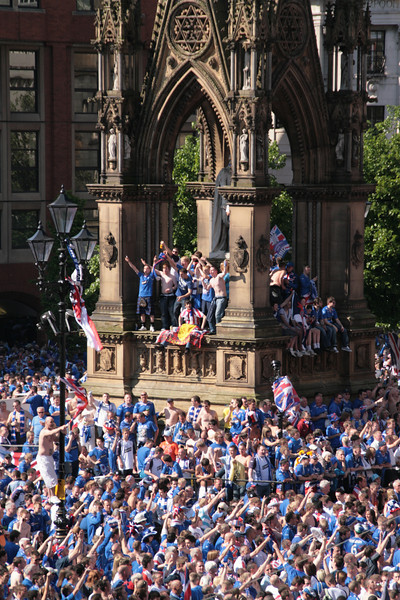 Rangers fans invasion of Manchester