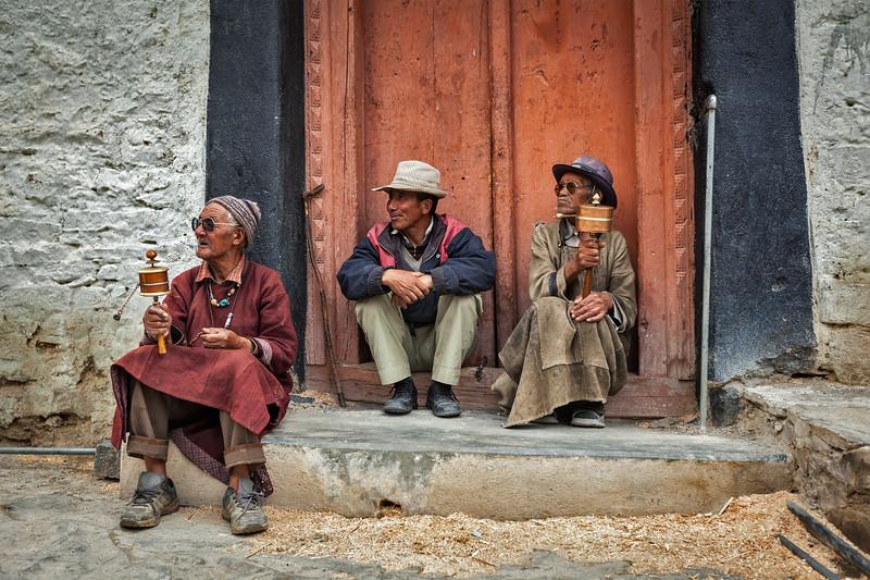 Tibetan Buddhists in Lamayuru monastery, Ladakh, India