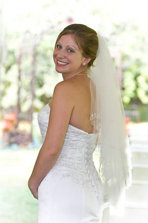 Bride before the Ceremony - Chris & Chrissy