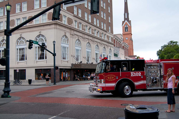 Photo Journalism: Fire department responding to a call