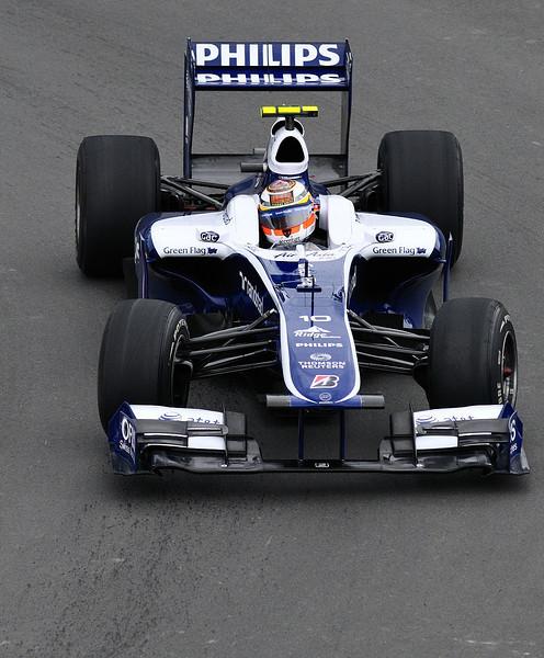 "Nico Hulkenberg photographed in the ""Epingle"" at the Montreal F1 Grand Prix / Nico Hulkenberg dans l'Epingle pendant la fin de semaine du Grand Prix de Montréal 2010."