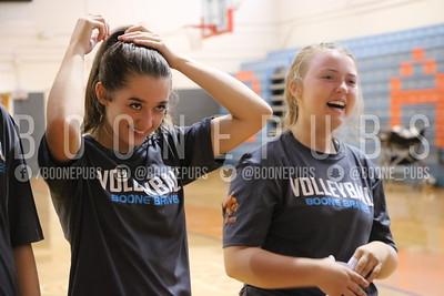 JV volleyball practice
