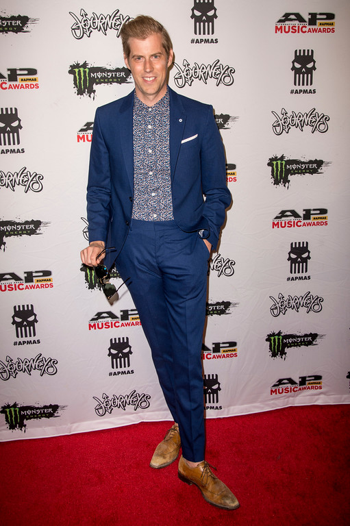 . Andrew McMahon seen at 2017 Alternative Press Music Awards at the KeyBank State Theatre on Monday, July 17, 2017, in Cleveland. (Photo by Amy Harris/Invision/AP)