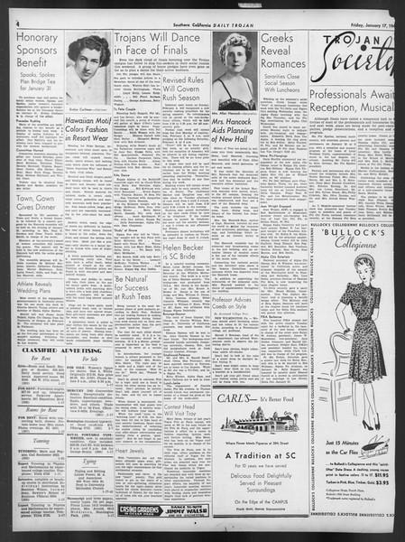 Daily Trojan, Vol. 32, No. 74, January 17, 1941