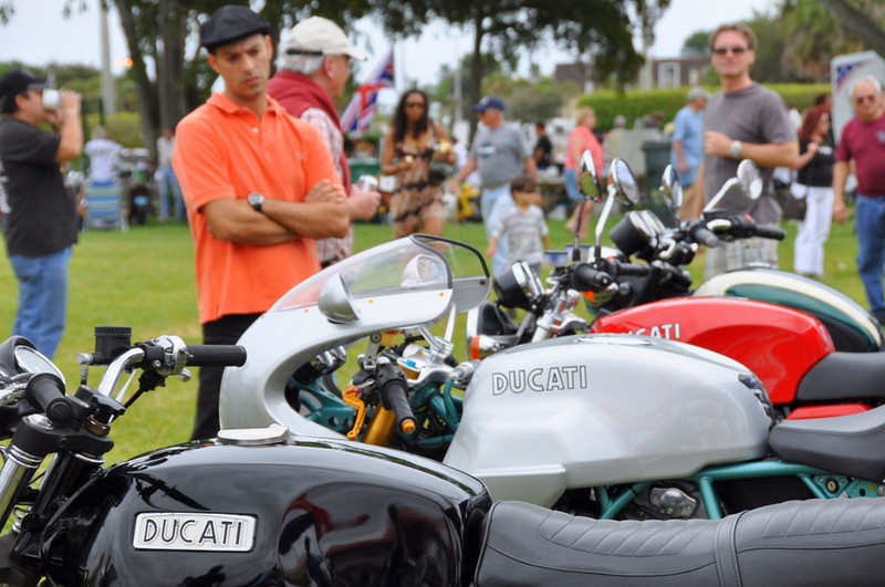 Ducati Owners Club of South Florida at Dania Bike Show, Dania FL