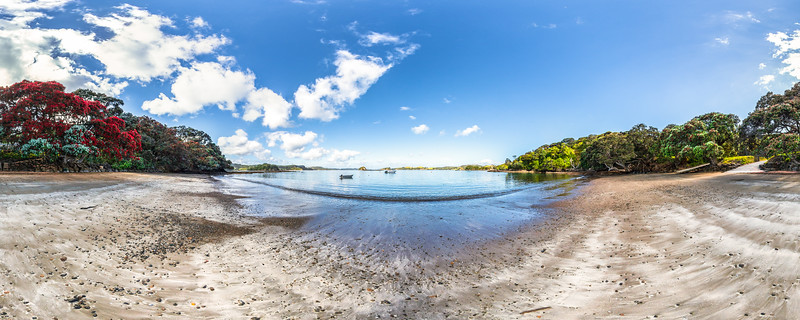 On the Beach at Low Tide - Onepoto Bay - Rawhiti Inlet