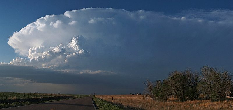 Supercell in Colorado from Storm chase in 2007. Oly E3, 14-54mm.