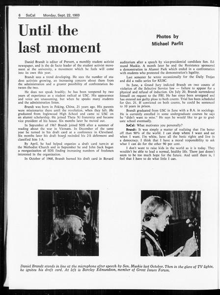 SoCal, Vol. 61, No. 6, September 22, 1969