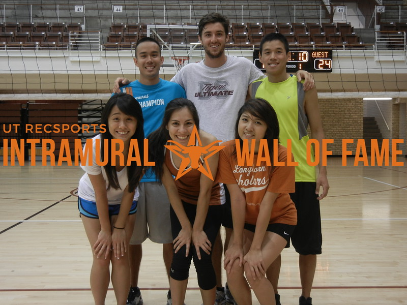 SUMMER VOLLEYBALL Champion  Cool Hwhip  R1: Lac-hong Pham, Selina Bonilla, Lisa Vo R2: Brian Nguyen, Nathan Bienvenu, James Ninh Not Pictured: Chris Le, Evelyn Marquez