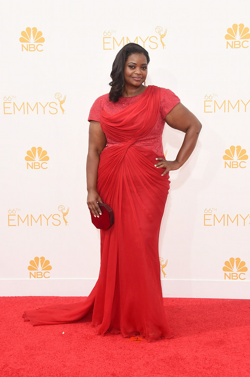 . Actress Octavia Spencer attends the 66th Annual Primetime Emmy Awards held at Nokia Theatre L.A. Live on August 25, 2014 in Los Angeles, California.  (Photo by Jason Merritt/Getty Images)