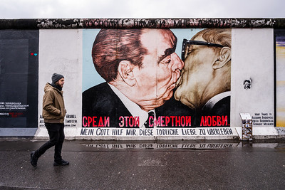 """The Kiss"" at The Berlin Wall."
