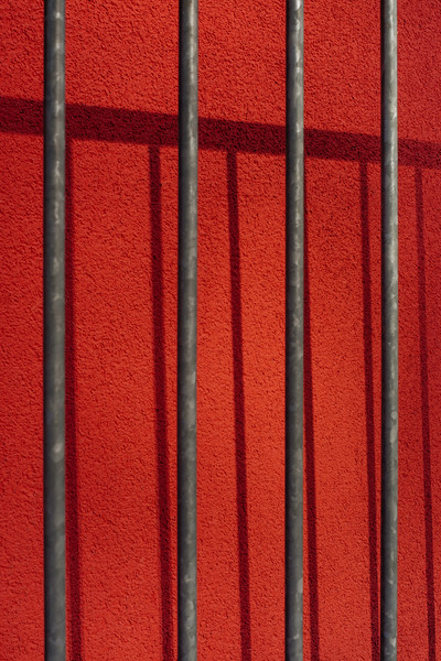 Red wall and barrier