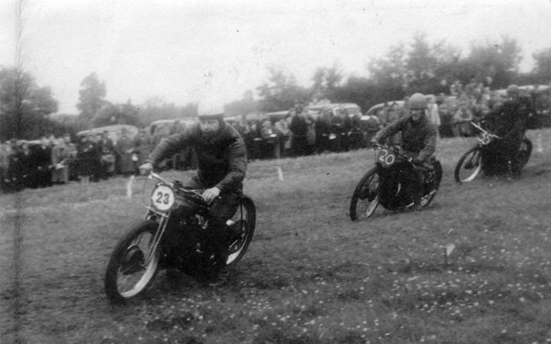 Bingley Cree, 1947, Dad leading.