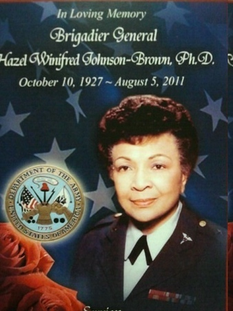 In Loving Memory Brigadier General Hazel Winifred Johnson-Brown Ph.D