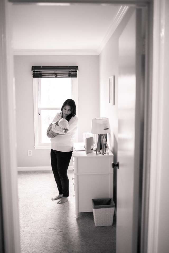 In-home newborn photo session with Jalapeno Photography in the Washington DC area.