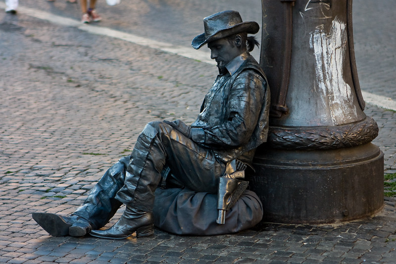 Cowboy Statue Guy