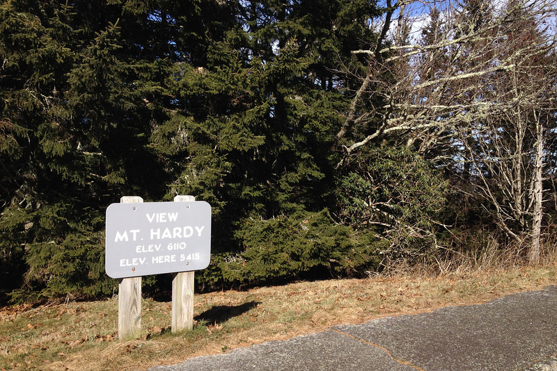 Blue Ridge Parkway - Mount Hardy Overlook -- 5,415'