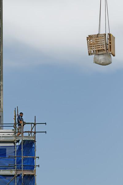 Working construction crane. Update 181 . Gosford. January 2019.