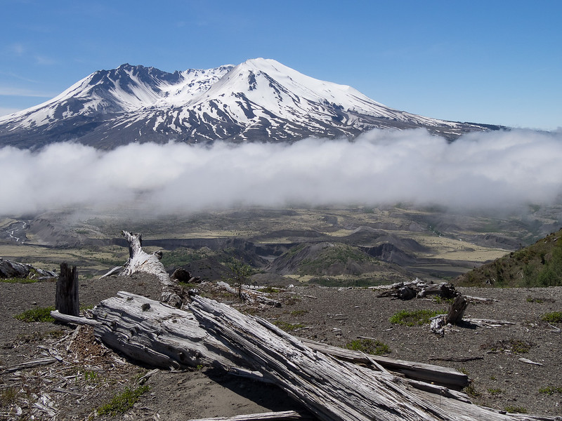 Mt. St. Helens in Snow and Fog