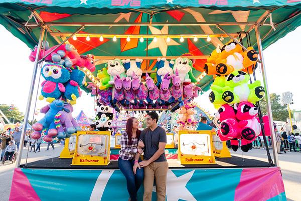 Sam & Nathan | North Carolina State Fair Engagement Photography
