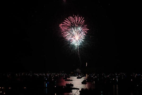 Lake Burton Fireworks 2015