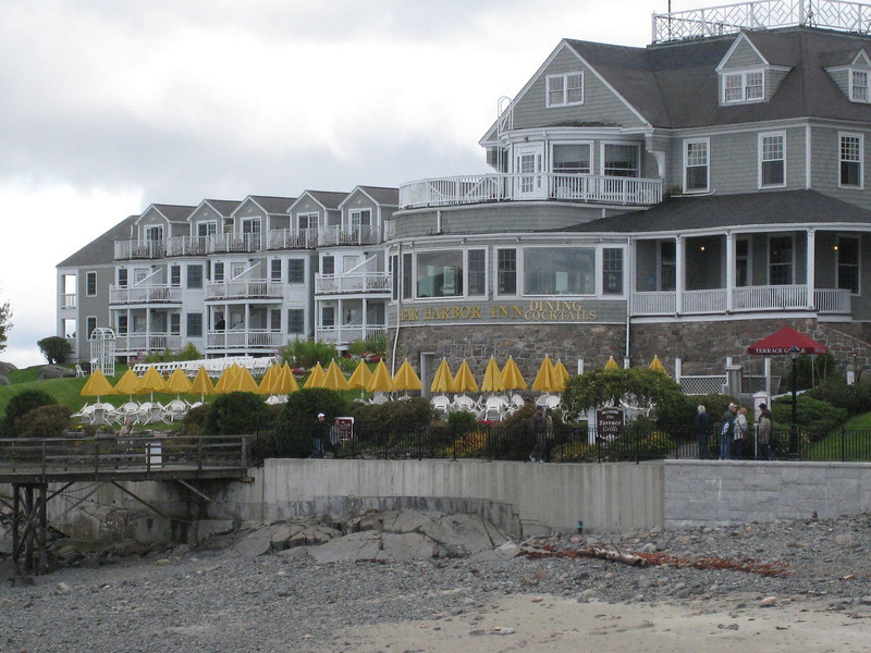 Bar Harbor, Maine - The Bar Harbor Inn (that's Mike on the balcony talking on his cell phone!)