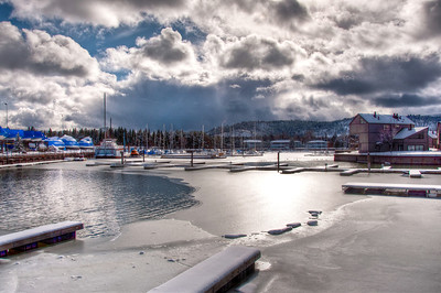 Tahoe Keys Harbor Winter